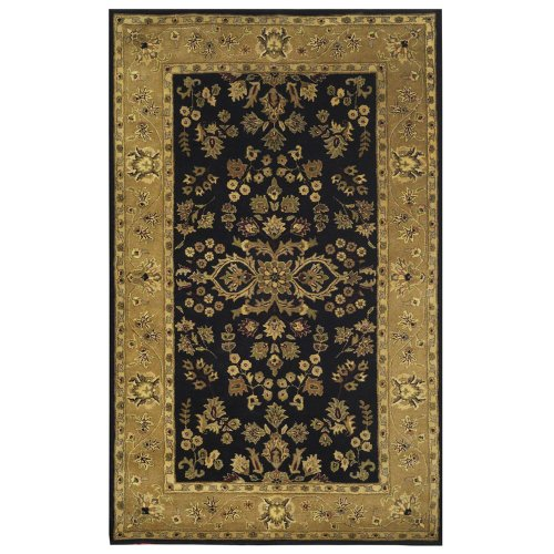 Square 9 Estate Sarouk Hand Tufted Rug - Black - 8'x10'