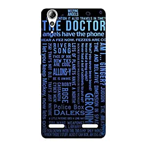 Special Blue Doc Angel Back Case Cover for Lenovo A6000