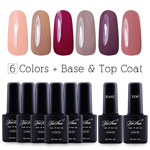 Yaoshun Brand 8ml 8Pcs/lot Soak Off UV Led Gel Nail Polish Colors Kit #003 (Uv Gel Polish Kit compare prices)
