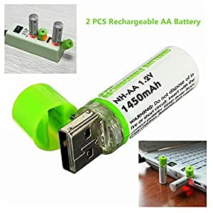 Amazon.com: NH AA Battery & Integrated USB Charger