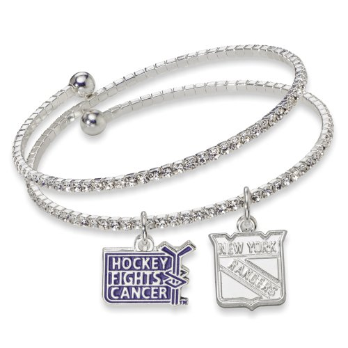 NHL New York Rangers Hockey Fights Cancer Support Bracelet, One Size Fits All