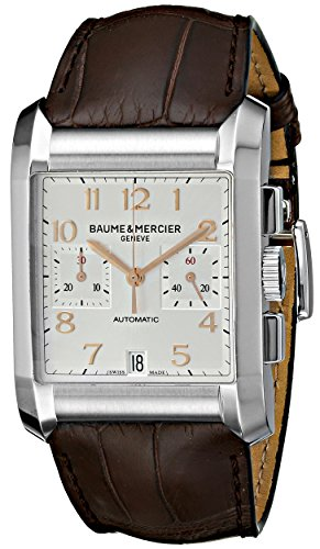 Baume Mercier Men's 10029 Hampton Mens Chronograph Brown Leather Strap Watch