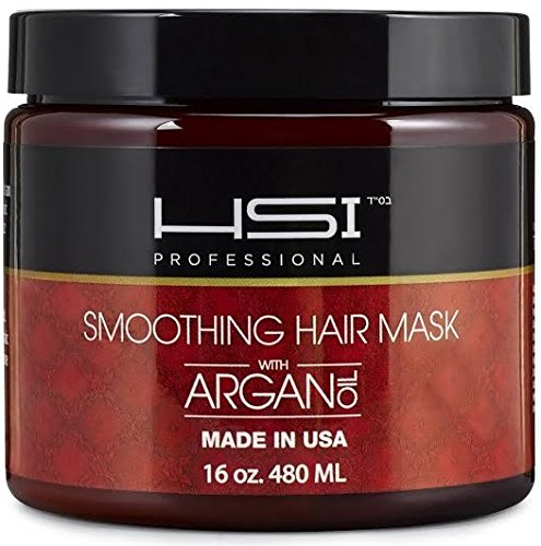HSI PROFESSIONAL Hydrating smoothing Anti-Frizz Hair Mask for all hair types, infused with vitamins a, b, c, & d. creates silky, smooth and healthy hair. sulfate free. Made in USA. no more split ends (16oz) (Smoothing Iron compare prices)