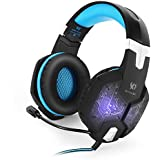 Gaming Headset, 3.5mm Wired Stereo Gaming Headphone Headband LED Lighting Over-Ear Noise Canceling Headset With...