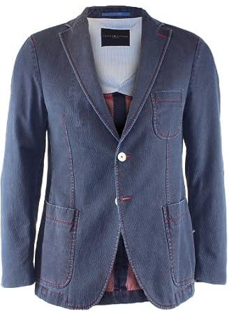 trendiges tommy hilfiger herren sakko jeans look blau gr m 46 bekleidung. Black Bedroom Furniture Sets. Home Design Ideas