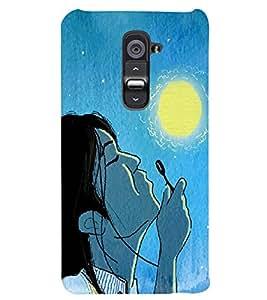 PRINTSWAG GIRL WITH MOON Designer Back Cover Case for LG G2