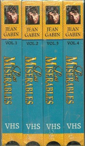 VHS box set of 4: LES MISERABLES... 1995... Jean Gabin... Danielle Delorme... Bernard Blier...