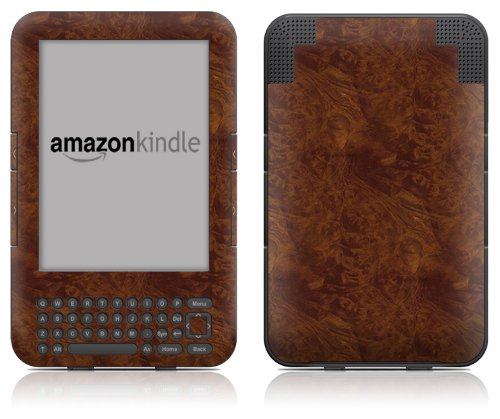 DecalGirl Kindle Skin (Fits Kindle Keyboard) Dark Burlwood (Matte Finish)