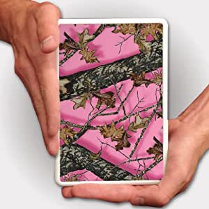 Kindle Fire Case - Pink Hunting Camouflage - White Protective Hard Case