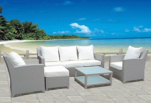 Design-Luxus-Gartenmbel-Lounge-Sitzgruppe-Polyrattan-1-x-3er-Sofa-2-x-Sessel-1-x-Hocker-Tisch-Fertig-montiert