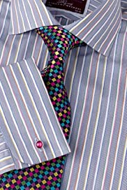 Luxury Sartorial Pure Cotton Stripe Shirt [T11-4541-S]