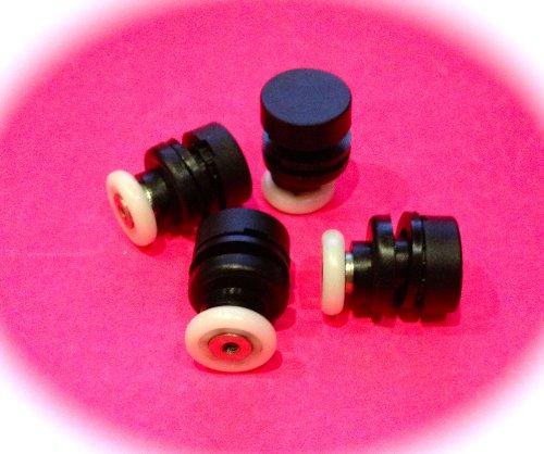 4 x Shower Door Rollers / Roller/ Wheels / Runners Small Wheel Diameter 17mm L2