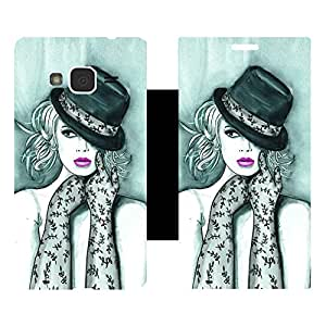 Skintice Designer Flip Cover with Vinyl wrap-around for Samsung Galaxy J3 (2016), Design - Chicago girl