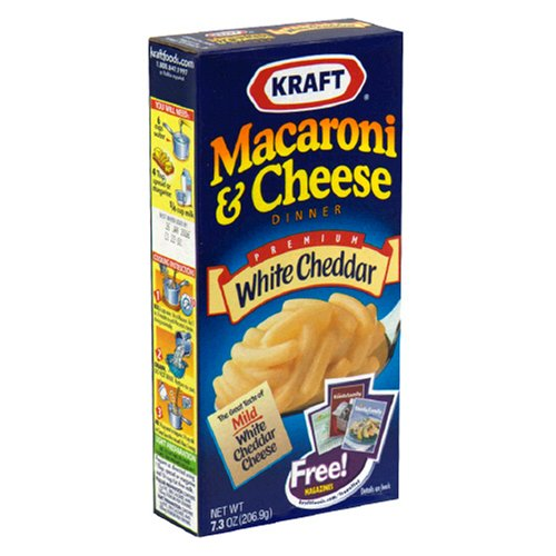 Kraft Macaroni and Cheese, White Cheddar, 7.3-Ounce Boxes (Pack of 24)