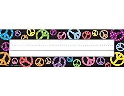 Teacher Created Resources Peace Signs Name Plates (5166)