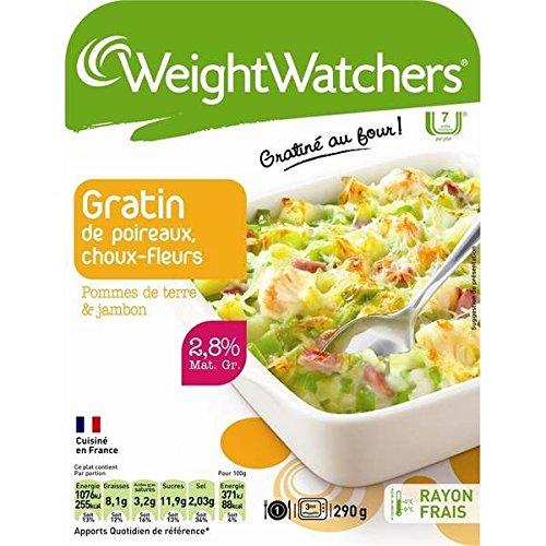 Weight Watchers - Marie Gratin de choux fleur poireaux pommes de terre et jambon Weight Watchers 290g