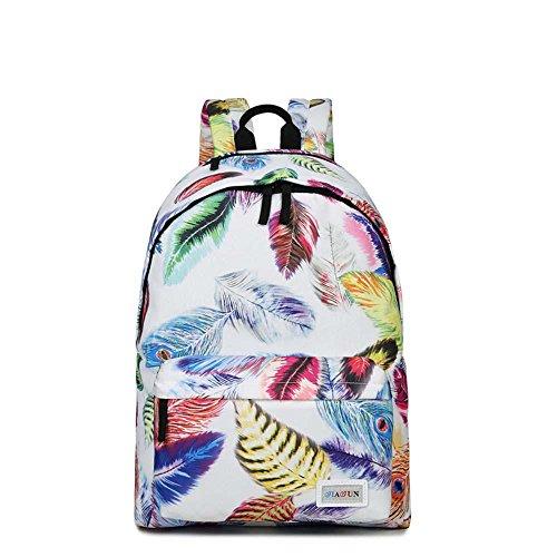 borsa-da-viaggio-sacchetto-di-spalla-di-svago-nylon-stampato-moda-white