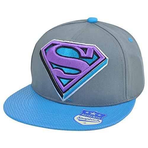 Superman Super Hero Snapback Flat Bill Warner Bros DC Comics Hat Cap Man Steel