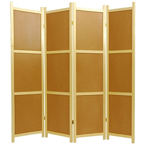 Oriental Furniture 6 ft. Tall Cork Board Shoji Screen - 4 Panel (Huge Cork Board compare prices)