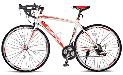Read About Merax Finiss Aluminum 21 Speed 700C Road Bike Racing Bicycle Shimano