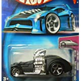 Mattel Hot Wheels 2004 First Editions Black Hardnoze Twin Mill #020 1:64 Scale