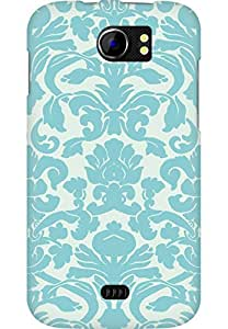 AMEZ designer printed 3d premium high quality back case cover for Micromax Canvas 2 A110 (abstract blue pattenr)
