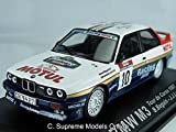 Bmw M3 Rally Car Model Beguin 1/43Rd Scale Blue/White Colour Example T3412Z