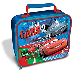 Childrens/Kids Boys Disney Cars 2 Lunch Box/Bag (8 x 10 Inches) (Red/Blue)