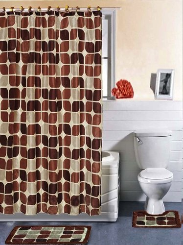 Casa Elite 15-Peice Bathroom Shower Set, Brown Stone
