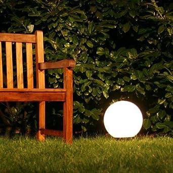 kugelleuchte aussenlampe mit 30 cm durchmesser mit erdspiess und 5 metern zuleitung de83. Black Bedroom Furniture Sets. Home Design Ideas