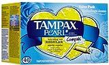 Tampax Compak Pearl Regular Absorbancy Plastic Tampons - 40 Ea