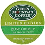 Green Mountain Coffee for Keurig Brewers, Island Coconut,  K-Cup Portion Pack for Keurig K-Cup Brewers, 24-Count