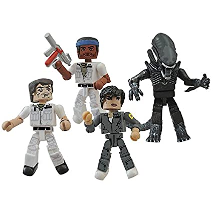 Alien - Pack 4 figurines Minimates 35th Anniversary 5 cm