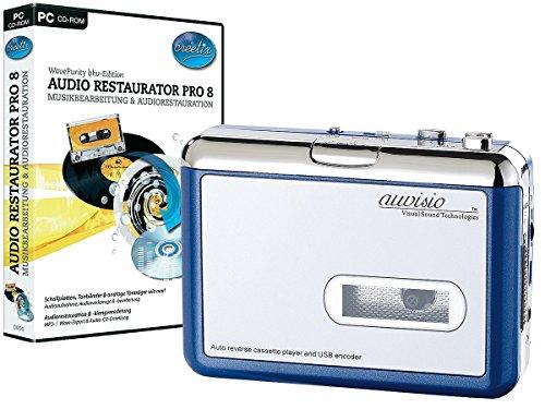 Auvisio de cassettes portable uSB blue edition'enregistrement pour mP3 -