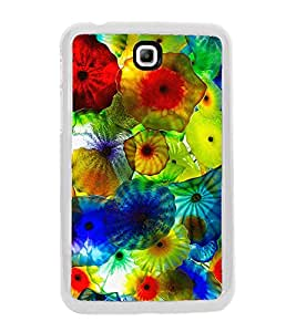 Multi colour Jelly fish 2D Hard Polycarbonate Designer Back Case Cover for Samsung Galaxy Tab 3 8.0 Wi-Fi T311/T315, Samsung Galaxy Tab 3 8.0 3G, Samsung Galaxy Tab 3 8.0 LTE