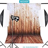 Neewer® 5x7ft/152x213cm 100% Polyester Wooden Backdrop Background for Photography Studio Video Shooting (Backdrop Only!)