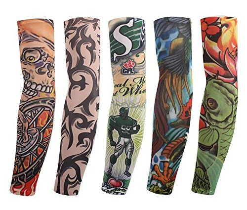 Krystle Men's Fancy Dress Costume Fake Arm Art Tattoo Sleeves  available at amazon for Rs.120