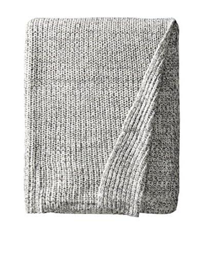 Stitch & Loop Dessen Throw, White/Grey