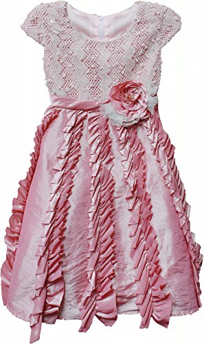 Candied Ginger Pink Cap Dress- Isobella And Chloe 3T