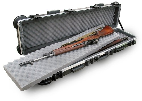 Plano vertical single scoped rifle hard case