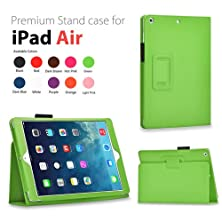 buy Tnp Products Slim Fit Synthetic Leather Folio Case With Auto Sleep And Wake Feature And Stylus Holder For Apple Ipad Air 2/Ipad Air, Green