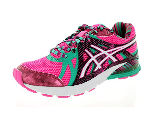 ASICS Women's Gel-Preleus Running Shoe,Hot Pink/Snow/Emerald,8.5 M US