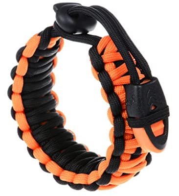 """The Friendly Swede Extra Beefy Paracord Survival Bracelet with Whistle - Adjustable Size Fits 7""""-9"""" (18-23 cm) Wrists"""