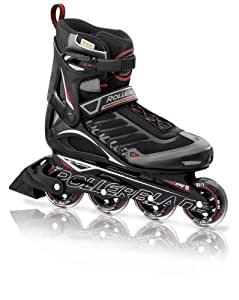Rollerblade 12 Spiritblade Recreational Skate, Black/Red, US Men's 6
