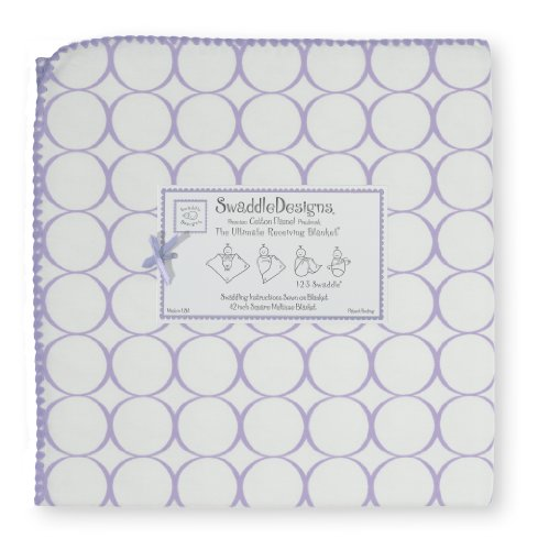 Swaddledesigns Ultimate Receiving Blanket, Mod Circles, Lavender