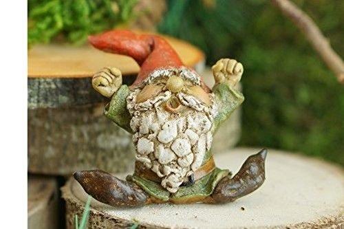 Lunarland Miniature Dollhouse FAIRY GARDEN Garden Gnome Yawning