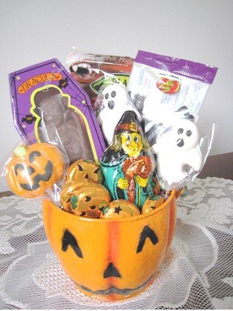 Halloween Pumpkin Chocolate Candy Gift Basket