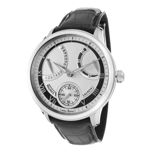 Maurice Lacroix Men's MP7268-SS001110 MasterPiece Silver and Grey Frame Dial Watch