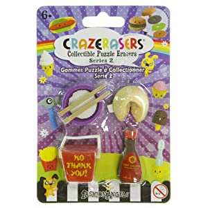 Chinese Take Out (4 Mini-Erasers) - CrazErasers: Collectible Erasers Series 2