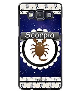 Fuson 2D Printed Sunsign Scorpio Designer back case cover for Samsung Galaxy A5 - D4428